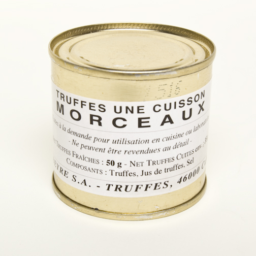 Winter Black French Truffles - Pieces - 1st Boiling 1.8 oz -Tin